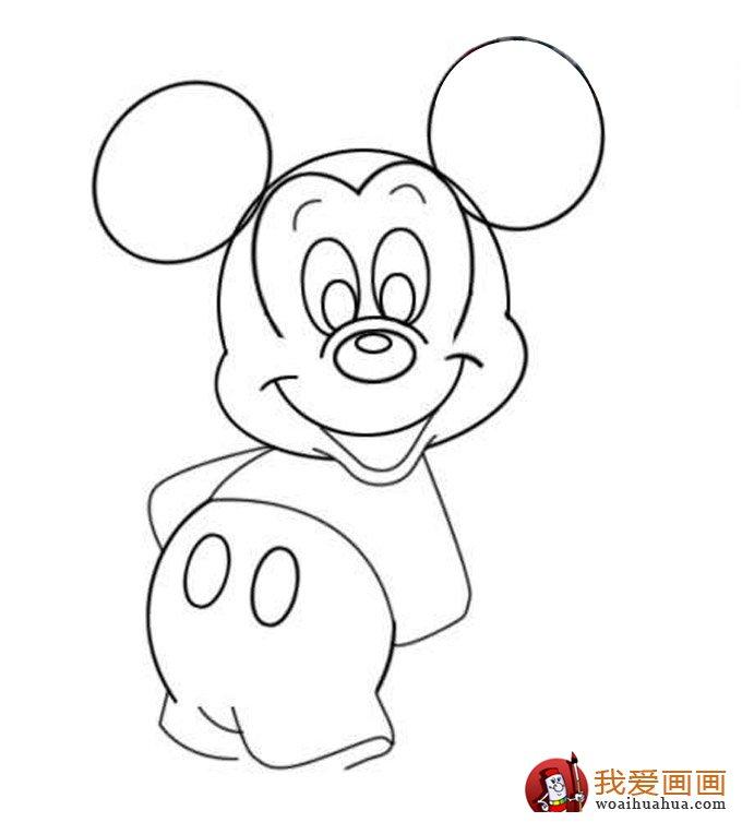 米老鼠绘画步骤六