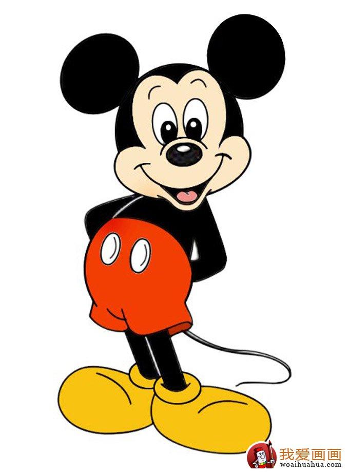 米老鼠画法:米老鼠从简笔画到填色的整个过程图文教程
