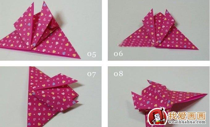 折纸蝴蝶教程 漂亮的纸蝴蝶折纸方法和步骤图解