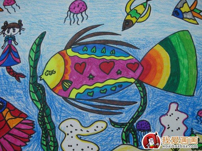 儿童水粉水彩画欣赏_可爱宝贝