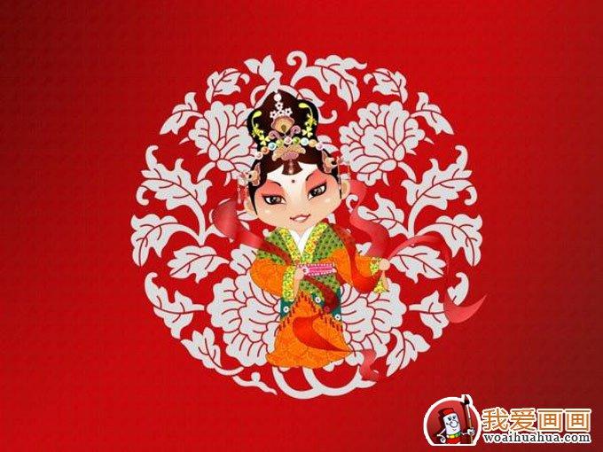 中国戏剧人物卡通画图片(旦角高清图片10p)