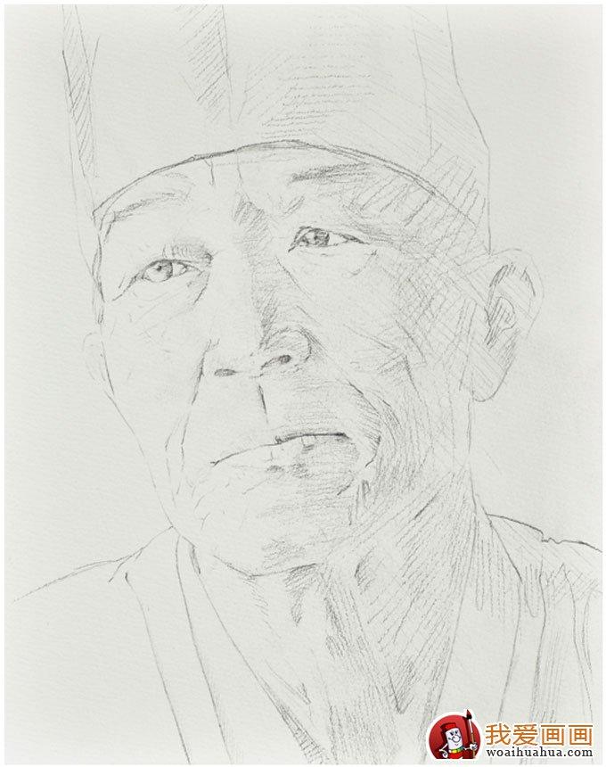 素描从简单的几何石膏,人物头像石膏到真人半身肖像.