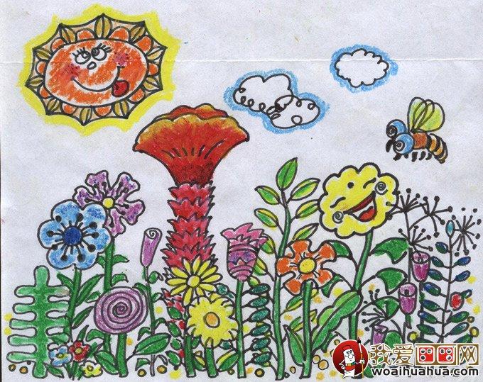 幼儿园小班美术教案:美丽的花儿画画学习活动图片