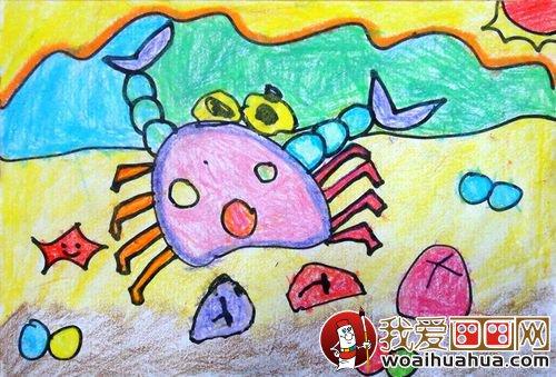 儿童画螃蟹绘画教案