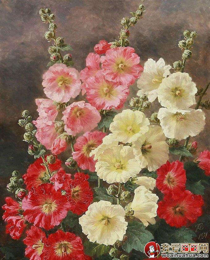 花卉油画 24副高精细写实油画花卉静物作品欣赏 4