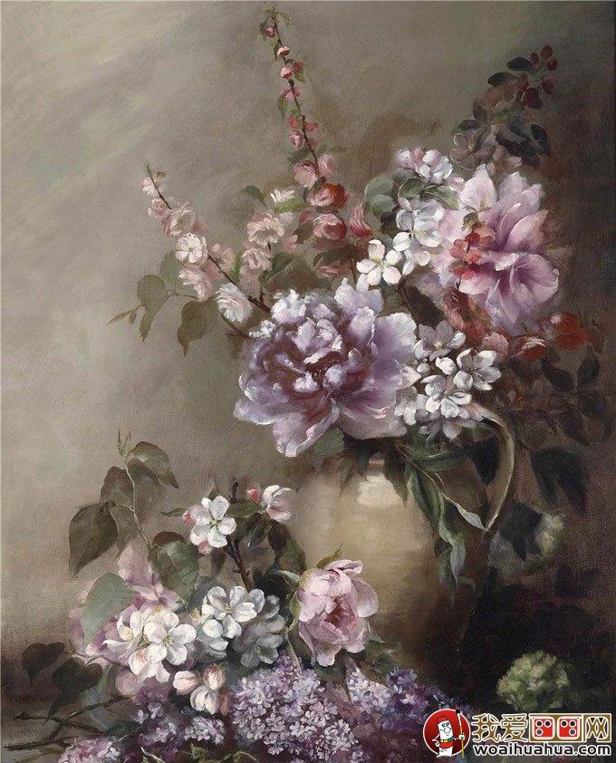 油画静物:24副高精细写实作品油画花卉视频欣htm花卉图片