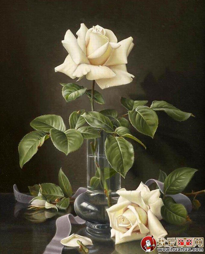 视频静物:24副高精细写实油画作品特效花卉欣ps花卉油画图片