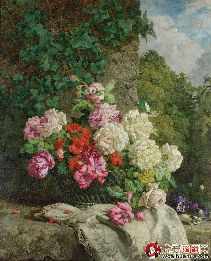 花卉油画 24副高精细写实油画花卉静物作品欣赏 3