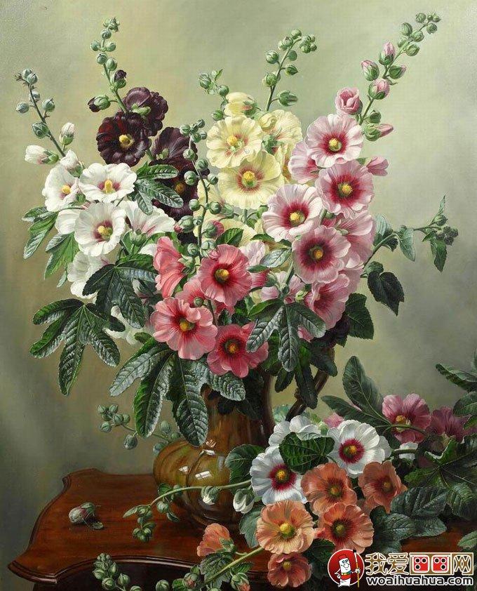 花卉油画 24副高精细写实油画花卉静物作品欣赏 6