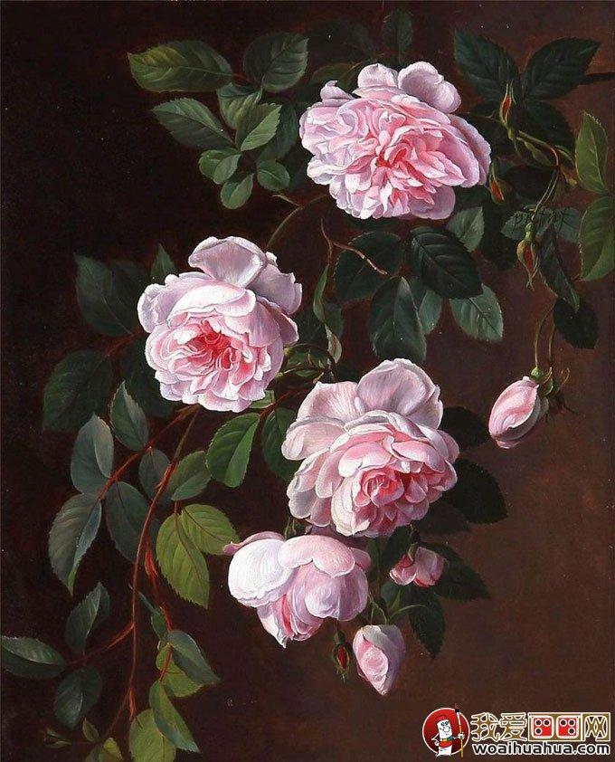 花卉油画 24副高精细写实油画花卉静物作品欣赏 8