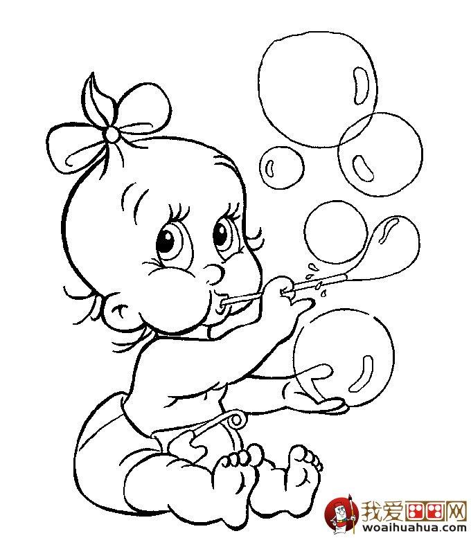 婴儿宝贝简笔画大全 各种神态宝宝简笔画画法 8P
