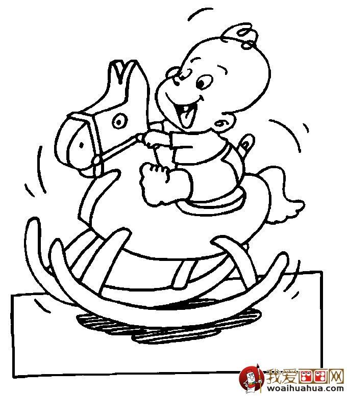 婴儿宝贝简笔画大全 各种神态宝宝简笔画画法(8p)