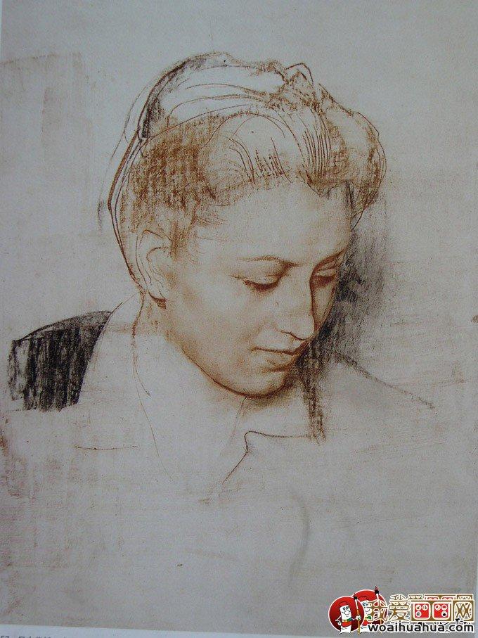 阿尼戈尼人物素描作品