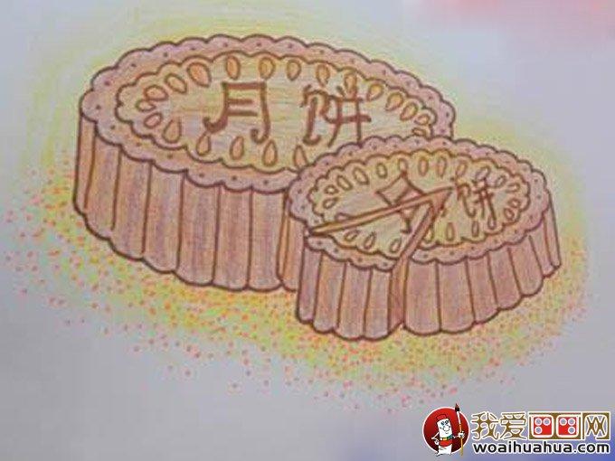 月饼的简笔画和月饼儿童画图片(4)