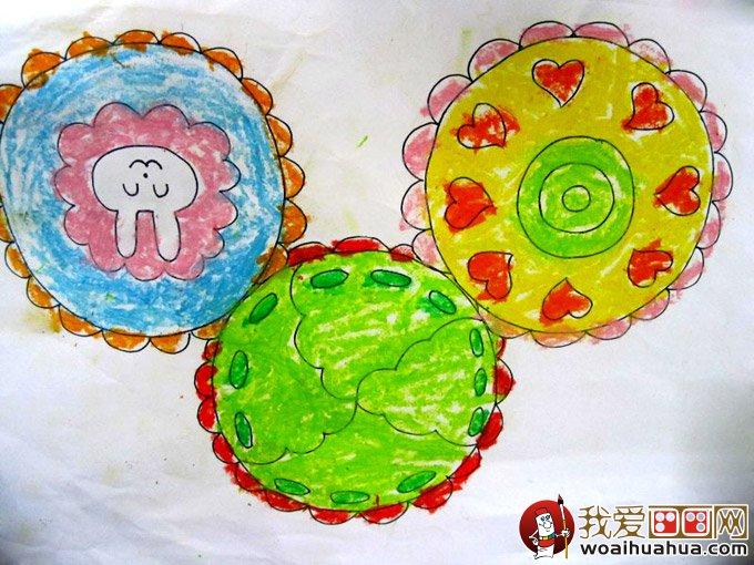 月饼的简笔画和月饼儿童画图片大全