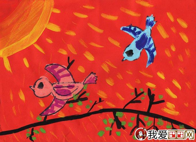 """教育 赛事获奖作品 > 水粉画:春天来了--2012""""金鹰杯""""儿童画大赛参赛图片"""