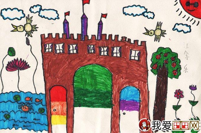 水彩笔科幻画:我心中的城堡--金鹰杯儿童画大赛参赛作品图片