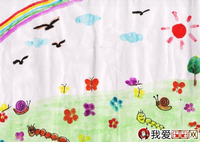 """水彩画:梦想彩虹--2012""""金鹰杯""""儿童画大赛参赛作品"""