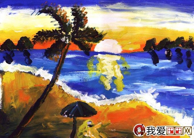 少儿水粉风景画作品_水粉风景画:风景画--金鹰杯儿童画大赛参赛作品