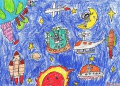 儿童画画教程:深海里的鱼油画棒画法步骤讲解图片