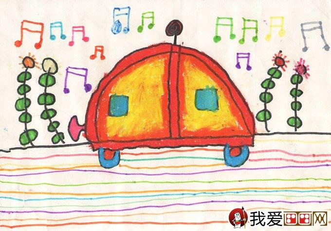 水彩笔梦想画:梦想开汽车--金鹰杯儿童画大赛参赛作品