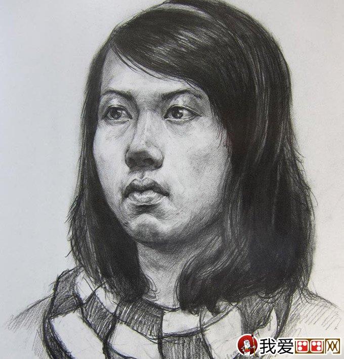 优秀人物素描头像:中国美术学院高分优秀青年头像