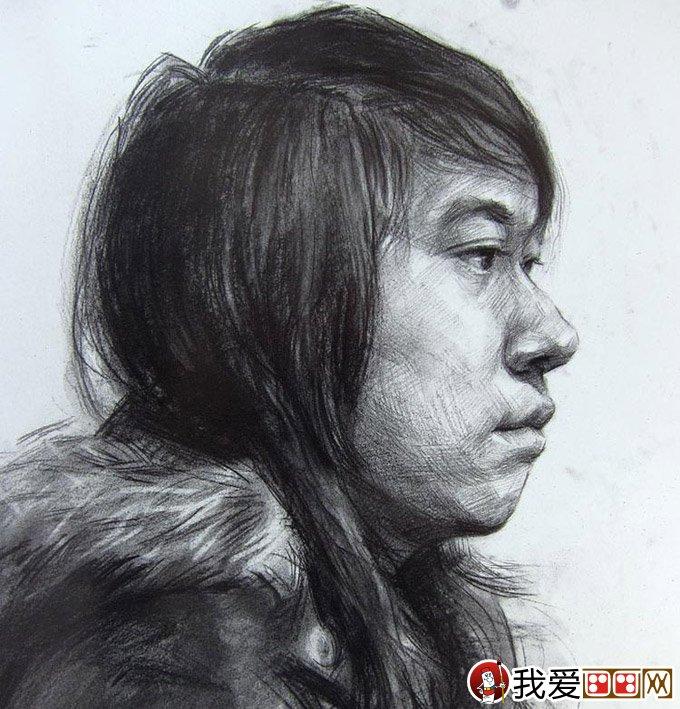优秀人物素描头像 中国美术学院高分优秀青年头像素描试卷07  优秀人物素描头像 中国美术学院高分优秀青年头像素描试卷08