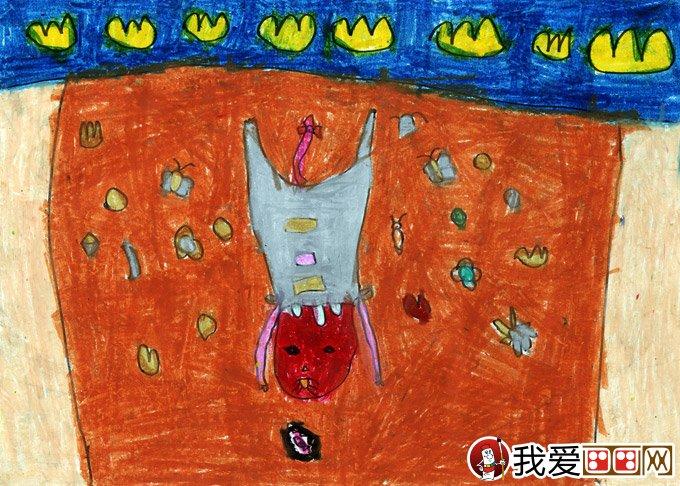 作品名称:贪吃的猫咪,属性:水彩画,卡通画,动物,儿童画.