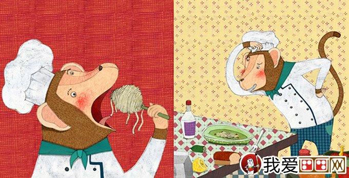 我爱画画    儿童插画欣赏:优秀儿童和动物卡通