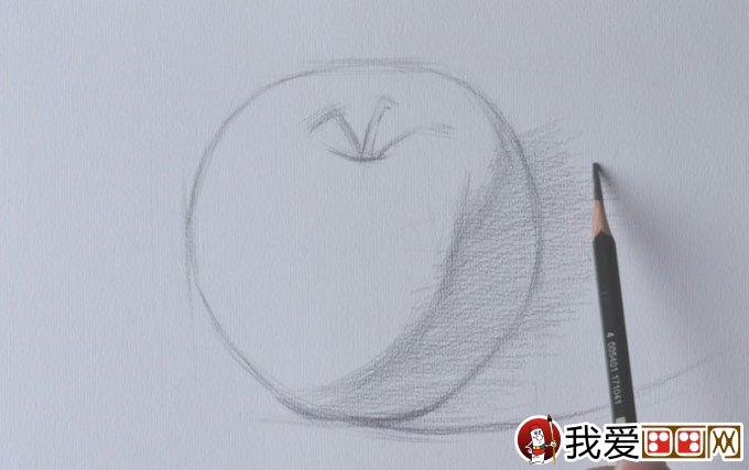 正立面苹果素描写生绘画教程详细步骤-强烈推荐(2)图片