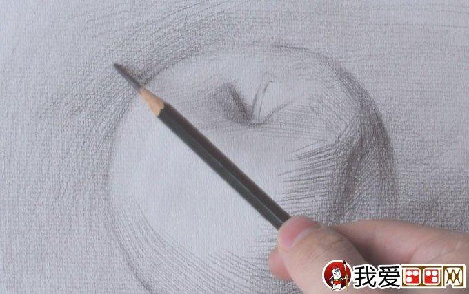 正立面苹果素描写生绘画教程详细步骤-强烈推荐(6)