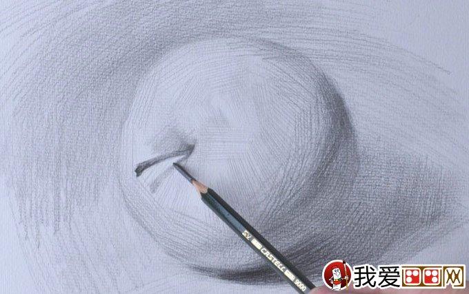 侧立苹果的明暗素描图文教程:苹果素描写生详细步骤(5