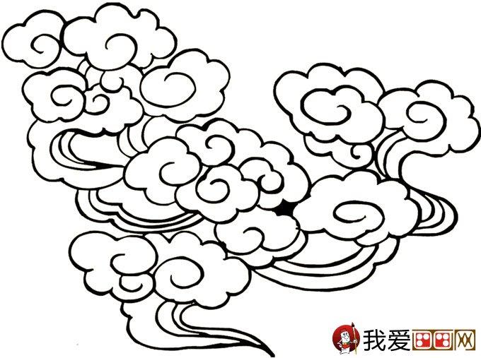 简笔画云彩图片:祥云的简笔画图片大全(2)