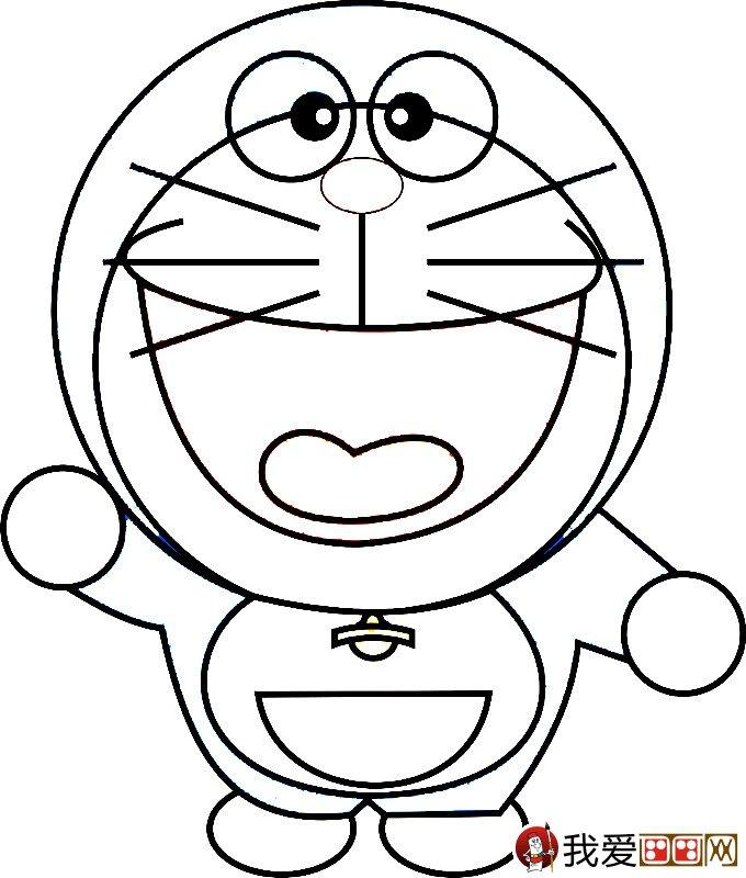 哆啦a梦之机器猫简笔画图片大全-幼儿园彩色简笔画图片大全 1000多