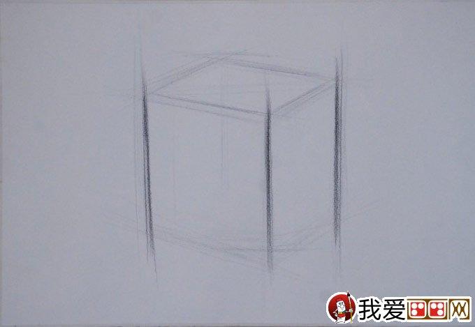 石膏立方体素描教程:立方体结构明暗素描绘画步骤