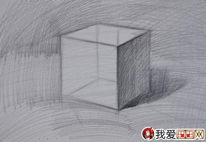 石膏立方体素描教程:立方体结构明暗素描绘画步骤(3)