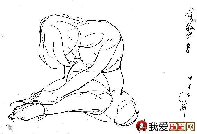 钢笔画人体速写作品:最简单速写人体艺术图片欣赏(2)
