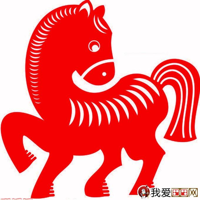马剪纸图片:2014马年关于马的剪纸图案大全(6)