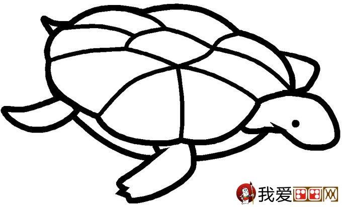 乌龟简笔画图片大全 12个可爱的小乌龟 3