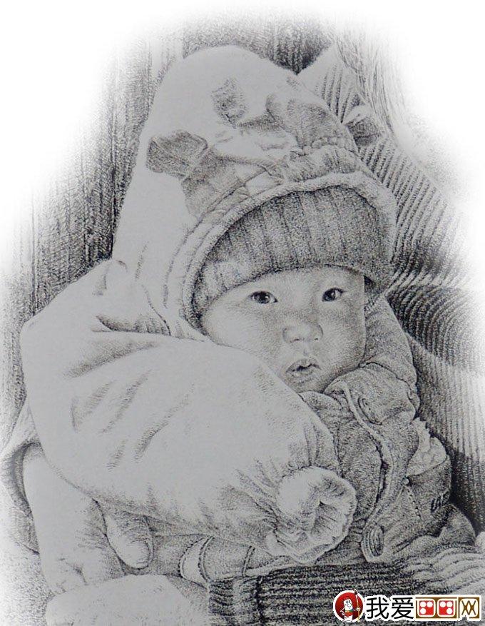 钢笔肖像画教程:用钢笔画人物肖像的名画临摹步骤(8)