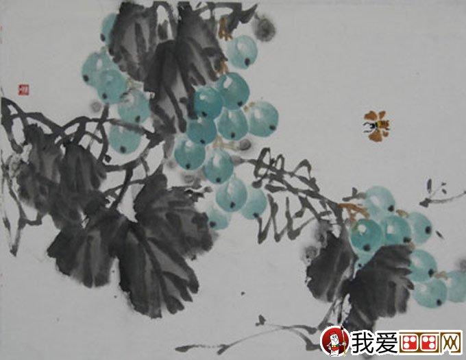 国画写意葡萄教程:葡萄的果实