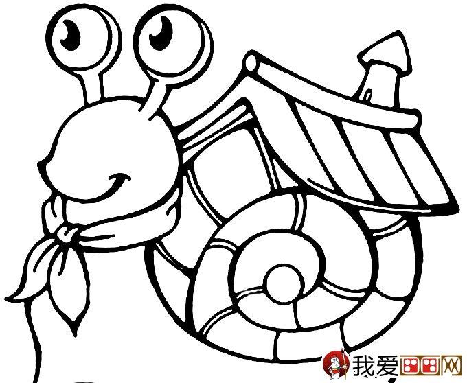 幼儿简笔画蜗牛 可爱小蜗牛简笔画图片大全 3