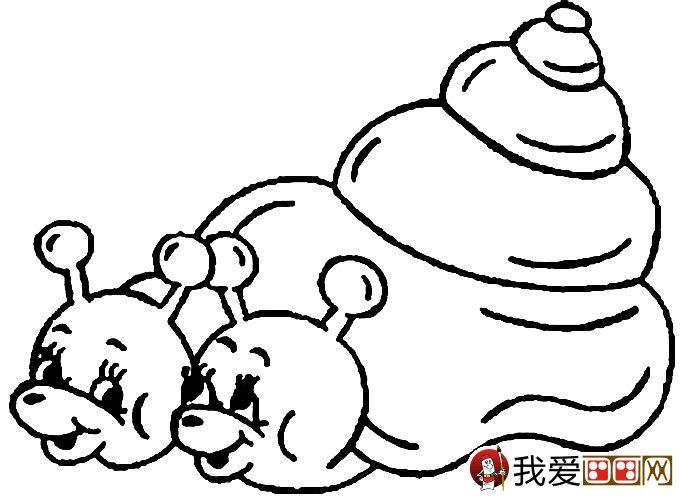 幼儿简笔画蜗牛 可爱小蜗牛简笔画图片大全 5