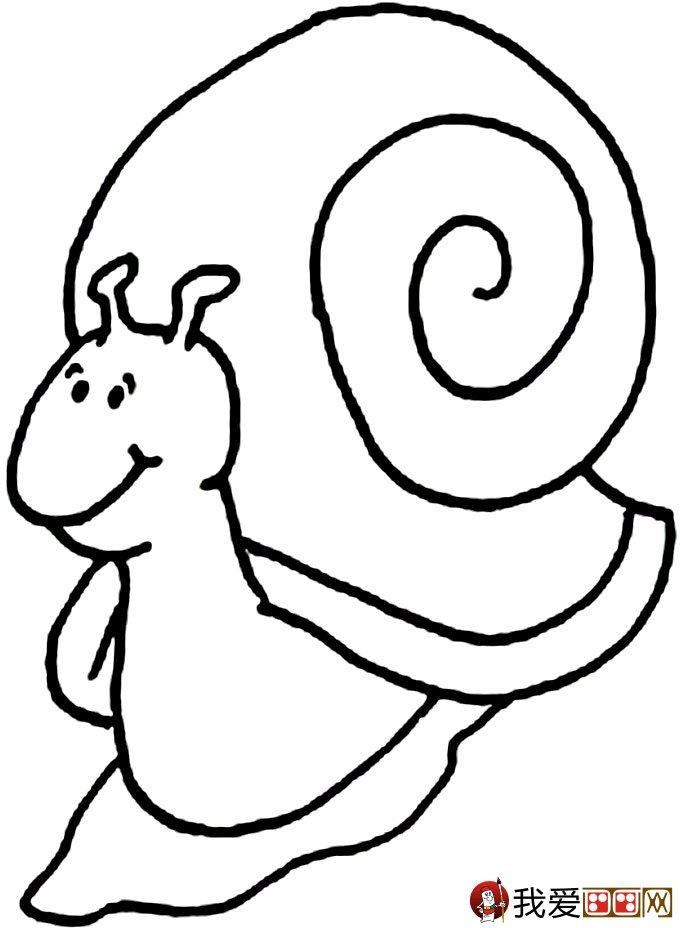 幼儿简笔画蜗牛:可爱小蜗牛简笔画图片大全(6)