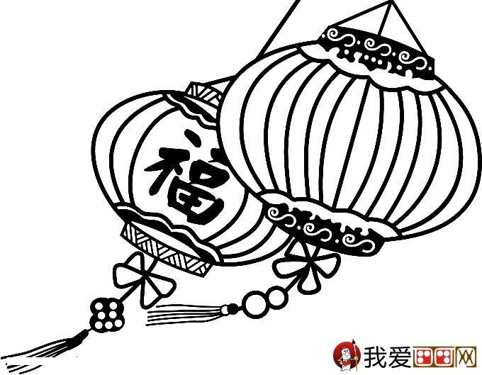灯笼简笔画图片大全 新年和春节简笔画灯笼