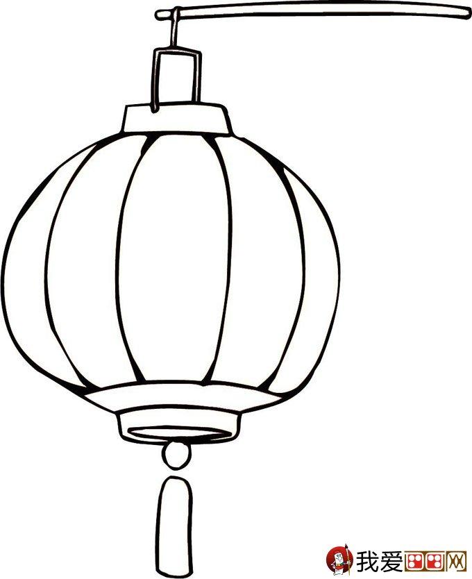 灯笼简笔画图片大全:新年和春节简笔画灯笼