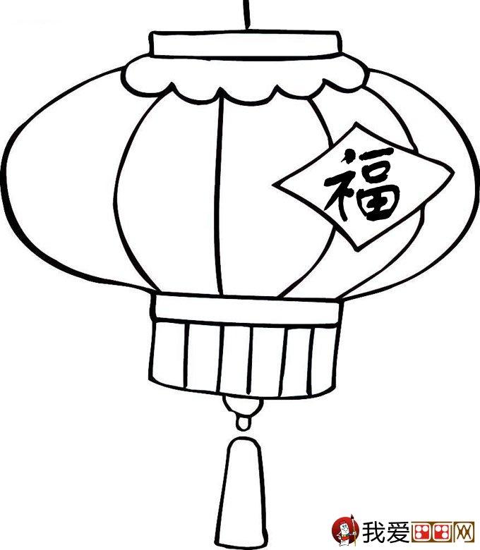 灯笼简笔画图片大全 新年和春节简笔画灯笼 2
