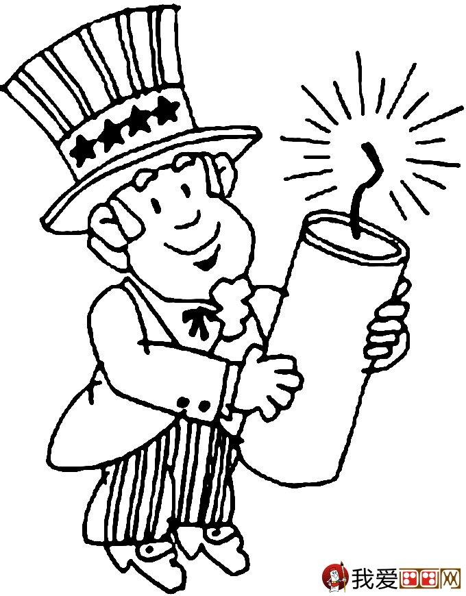 放鞭炮简笔画图片大全:新年儿童简笔画鞭炮(3)