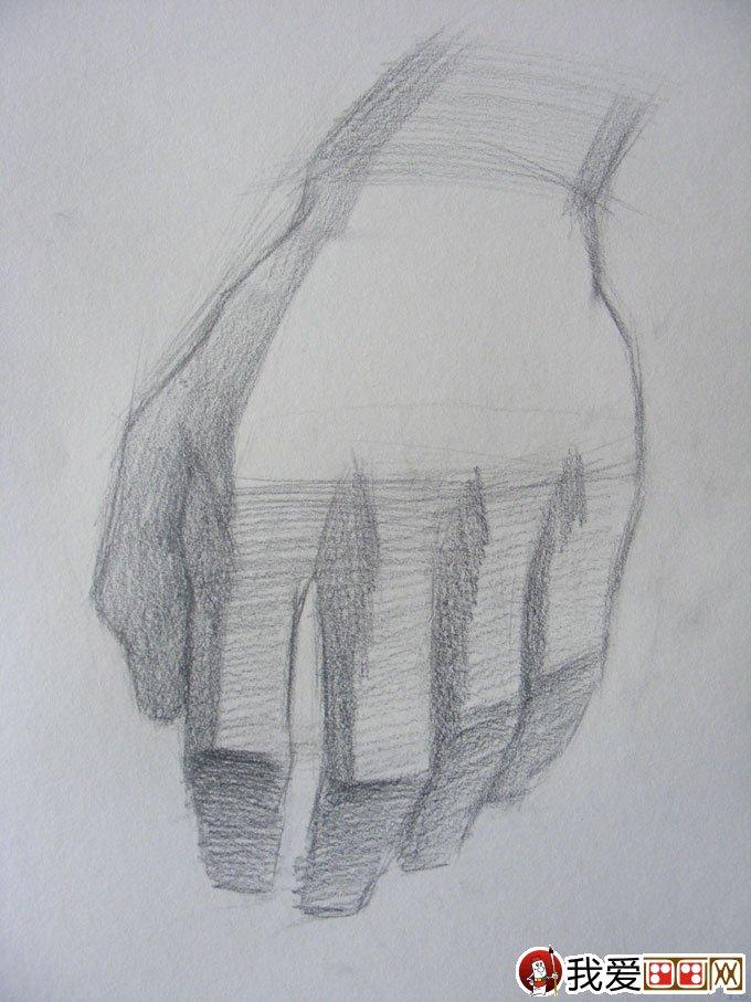素描手的画法:手的素描写生教程图文步骤(3)