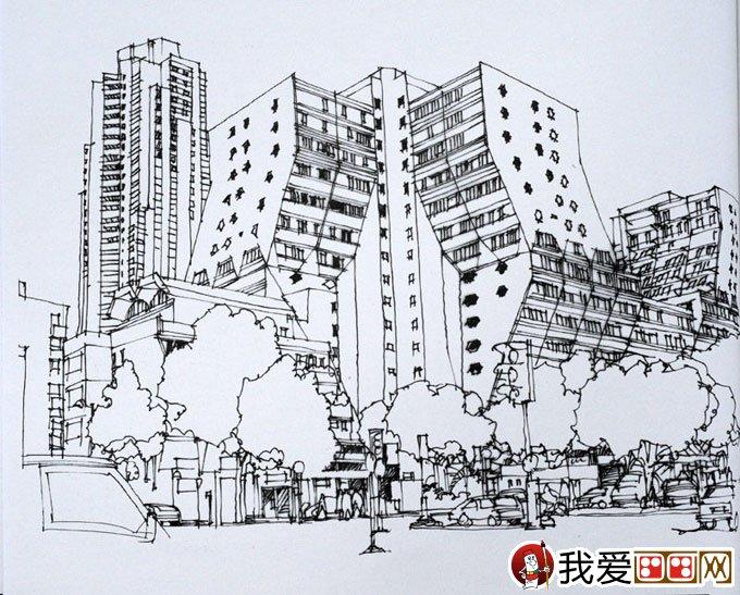 陈新生钢笔画作品:钢笔手绘巴黎建筑图13p(4)
